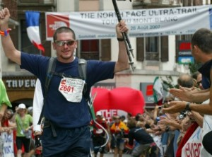 Tom Boother finishing Mont-Blanc