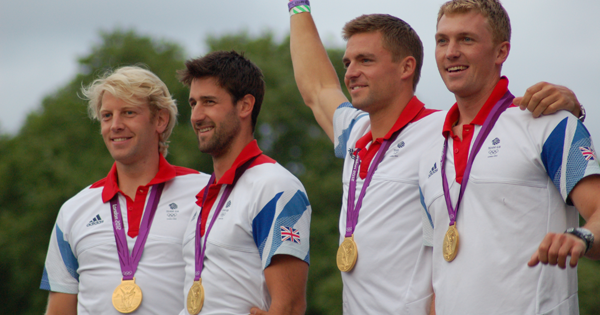 British Olympic Gold Medalists Coxless Four London 2012