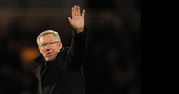 Sir Alex Ferguson waves goodbye