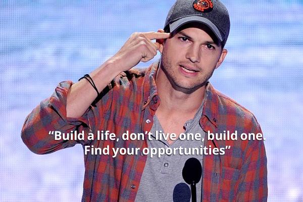 Ashton Kutcher on success