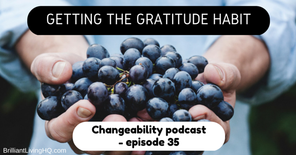 Getting the gratitude habit